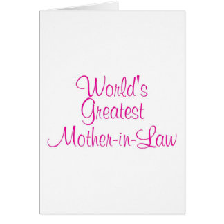 Worlds Greatest Mother In Law Greeting Card