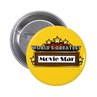 World's Greatest Movie Star Pinback Buttons