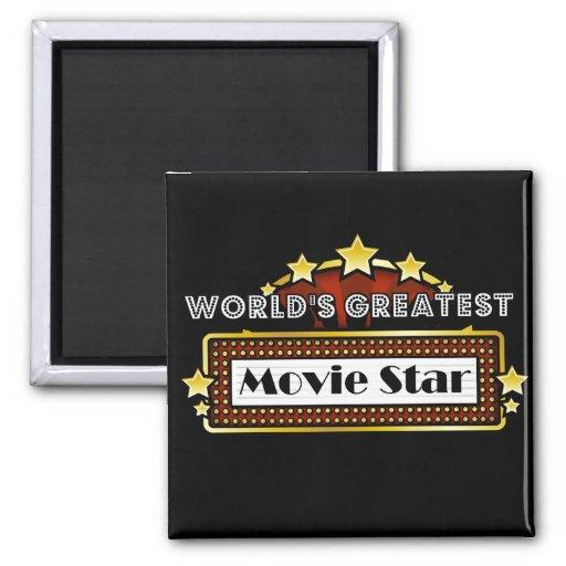 World's Greatest Movie Star Fridge Magnet