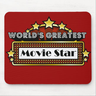 World's Greatest Movie Star Mouse Pad