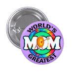 World's Greatest Mum; Archery Buttons