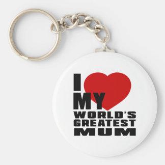 WORLD'S GREATEST MUM BASIC ROUND BUTTON KEY RING