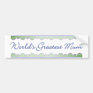 World's Greatest Mum (dragonflies) Bumper Sticker
