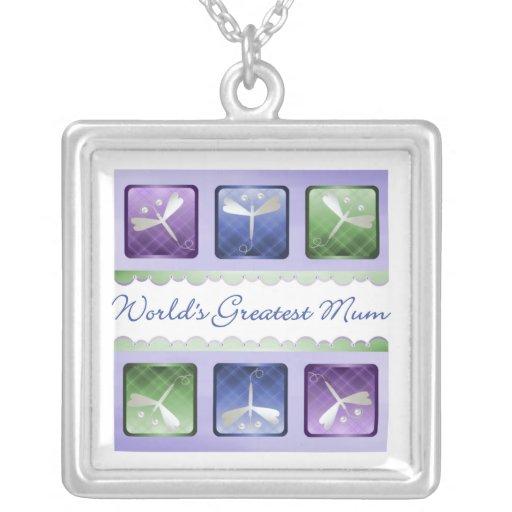 World's Greatest Mum (dragonflies) Custom Jewelry