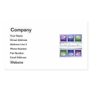 World's Greatest Mum (dragonflies) Pack Of Standard Business Cards