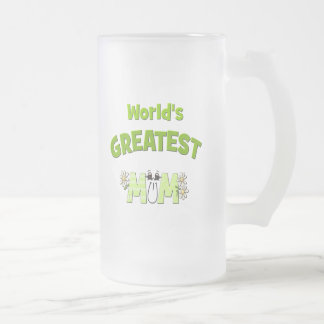 World's Greatest Mum Frosted Glass Beer Mug
