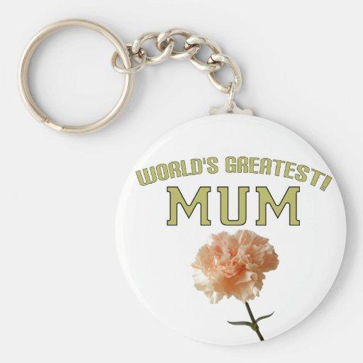 World's Greatest Mum! Keychains
