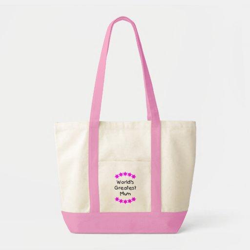 World's Greatest Mum (pink stars) Bag