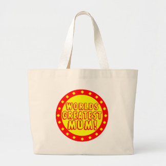 Worlds Greatest Mum Red & Yellow Tote Bag