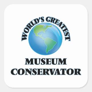 World's Greatest Museum Conservator Sticker