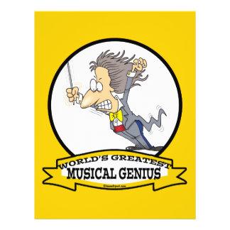 WORLDS GREATEST MUSICAL GENIUS MEN CARTOON 21.5 CM X 28 CM FLYER