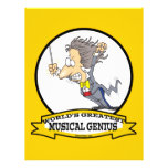WORLDS GREATEST MUSICAL GENIUS MEN CARTOON FULL COLOR FLYER