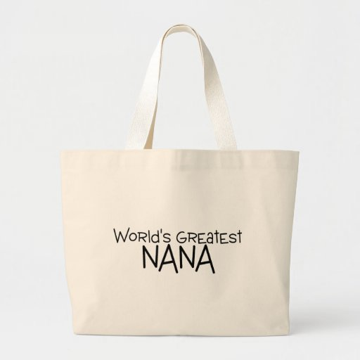 Worlds Greatest Nana Canvas Bags