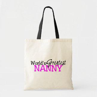 Worlds Greatest Nanny Pink Black