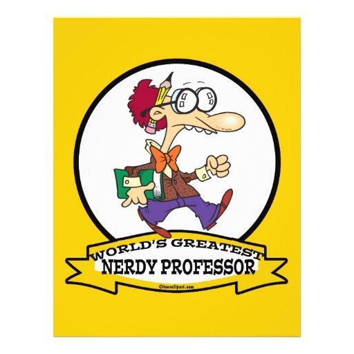 WORLDS GREATEST NERDY PROFESSOR CARTOON CUSTOM FLYER
