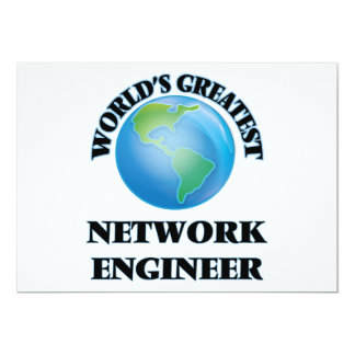 World's Greatest Network Engineer Personalized Invitations