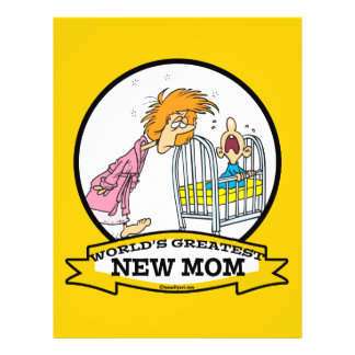 WORLDS GREATEST NEW MOM WOMEN CARTOON 21.5 CM X 28 CM FLYER