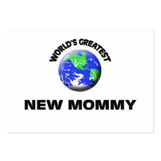 World's Greatest New Mommy Business Card Template