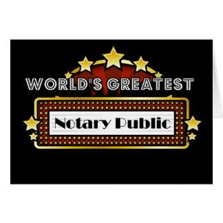 World's Greatest Notary Public Card
