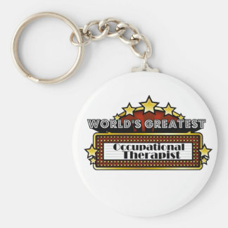 World's Greatest Occupational Therapist Basic Round Button Key Ring