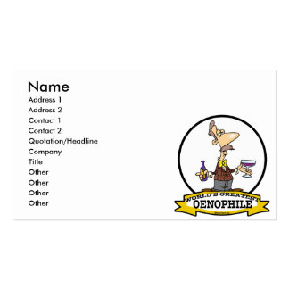 WORLDS GREATEST OENOPHILE CARTOON PACK OF STANDARD BUSINESS CARDS
