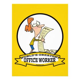 WORLDS GREATEST OFFICE WORKER WOMEN CARTOON 21.5 CM X 28 CM FLYER