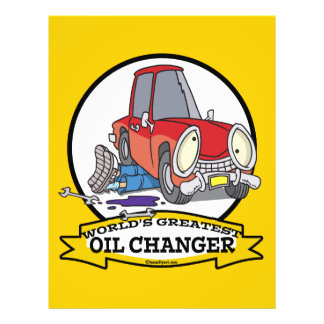 WORLDS GREATEST OIL CHANGER MEN CARTOON 21.5 CM X 28 CM FLYER