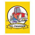 WORLDS GREATEST OIL CHANGER MEN CARTOON FLYER