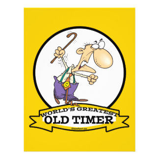 WORLDS GREATEST OLD TIMER CARTOON PERSONALIZED FLYER