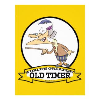 WORLDS GREATEST OLD TIMER LADY CARTOON 21.5 CM X 28 CM FLYER