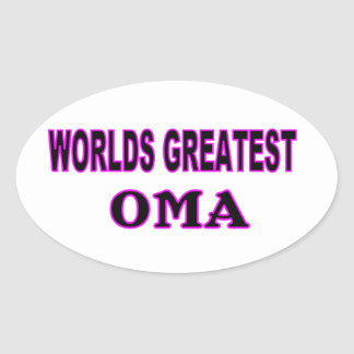 WORLDS GREATEST OMA OVAL STICKER