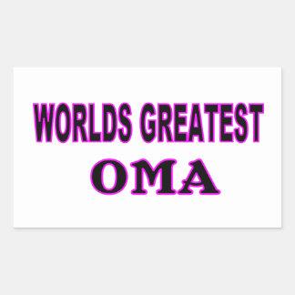 WORLDS GREATEST OMA RECTANGULAR STICKER