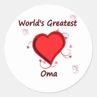 World's Greatest oma Round Sticker