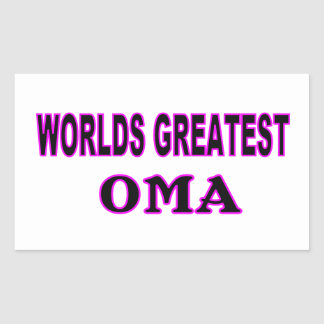 WORLDS GREATEST OMA RECTANGULAR STICKERS