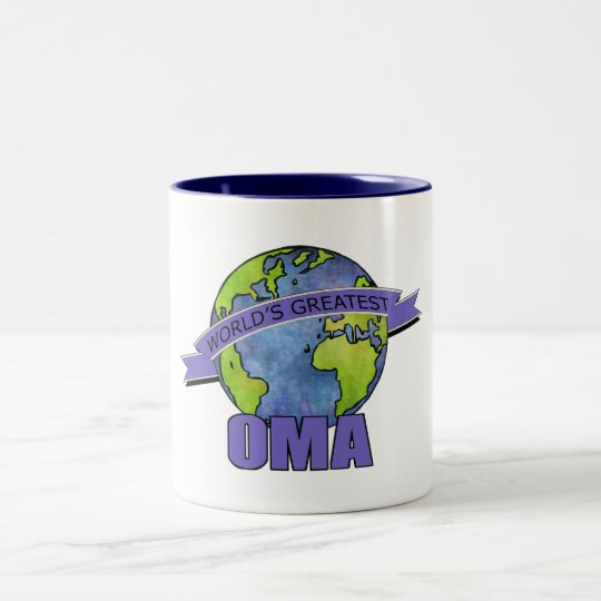 World's Greatest Oma Two-Tone Coffee Mug