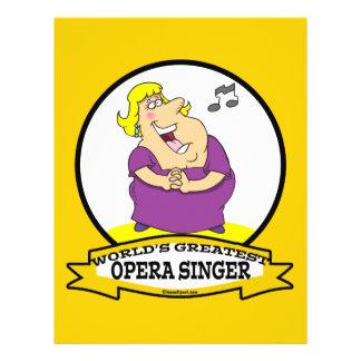 WORLDS GREATEST OPERA SINGER FAT LADY CARTOON FULL COLOR FLYER