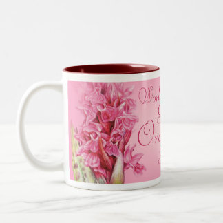 """World's Greatest Orchid Grower"" pink orchid mug"