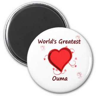 World's Greatest ouma 6 Cm Round Magnet