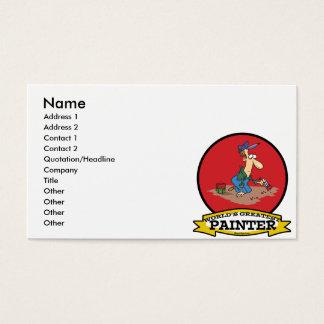 WORLDS GREATEST PAINTER MEN CARTOON BUSINESS CARD