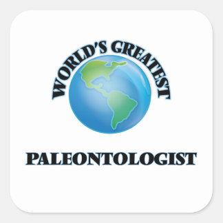World's Greatest Paleontologist Square Sticker