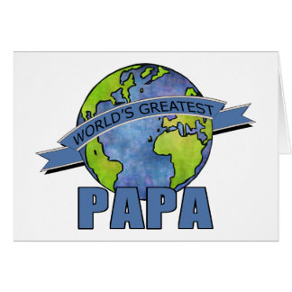 World's Greatest Papa Card