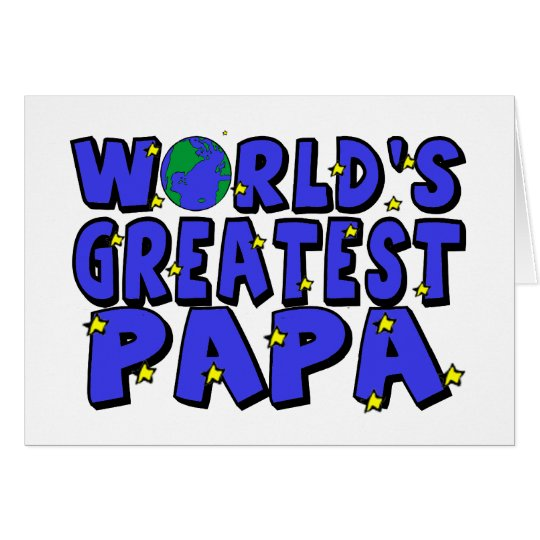 World's Greatest Papa Greeting Card