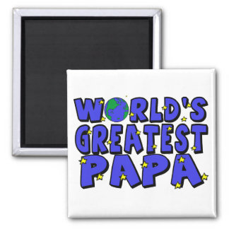 World's Greatest Papa Square Magnet