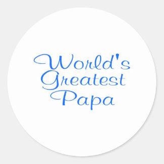 Worlds Greatest Papa Round Sticker