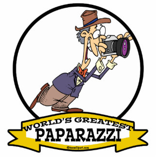 WORLDS GREATEST PAPARAZZI II MEN CARTOON STANDING PHOTO SCULPTURE