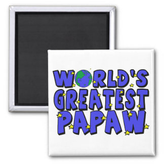 World's Greatest Papaw Square Magnet