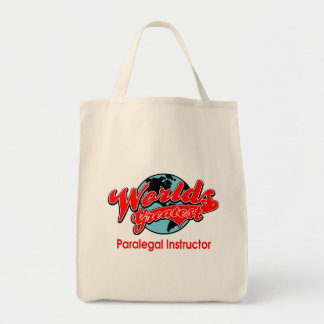 World's Greatest Paralegal Instructor Tote Bags