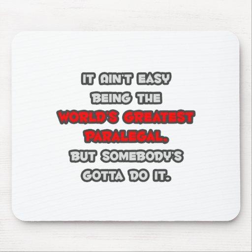 World's Greatest Paralegal Joke Mousepads