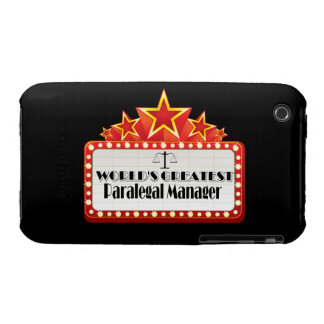World's Greatest Paralegal Manager iPhone 3 Case