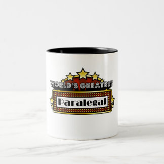 World's Greatest Paralegal Two-Tone Coffee Mug